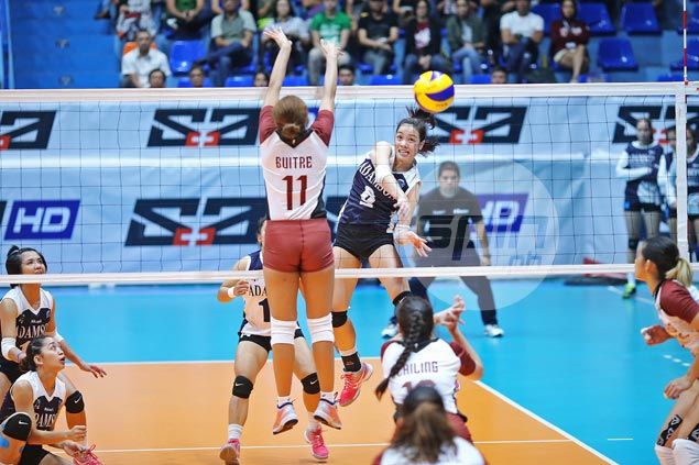 Lady Falcons end run of futility against Lady Maroons with dominant straight-sets win