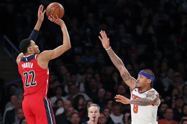 Wizards erase 27-points deficit to beat Knicks for biggest comeback of season