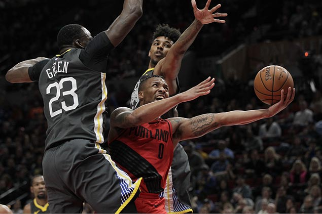 Damian Lillard scores 44 as Blazers overcome Warriors and spoil KD's 50-point night