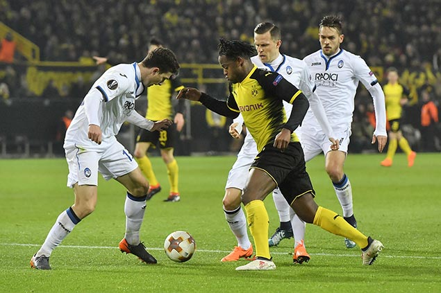 Batshuayi brace lifts Dortmund to comeback win vs Atalanta in Europa League
