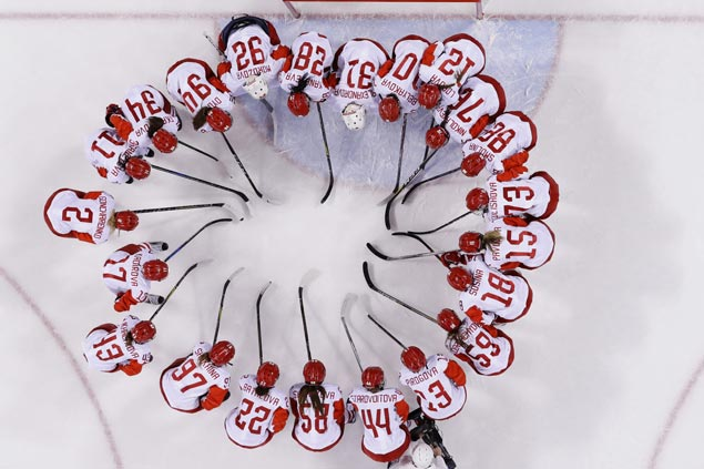 Russian women, competing under Olympic flag, beat Switzerland to gain Pyeongchang semis