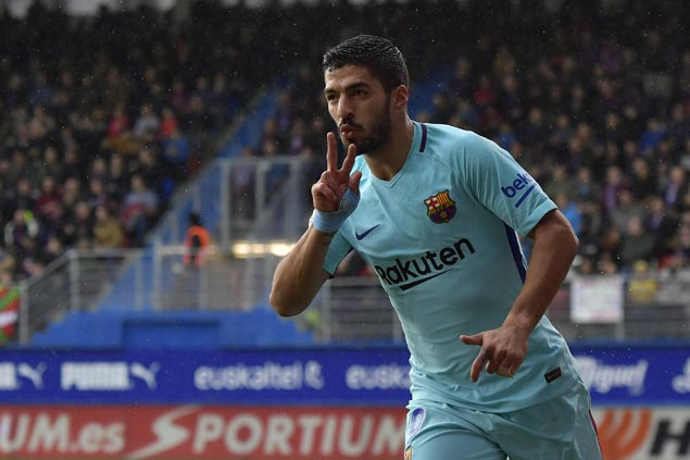 Barca scores easy win at Eibar ahead of Champions League match against Chelsea