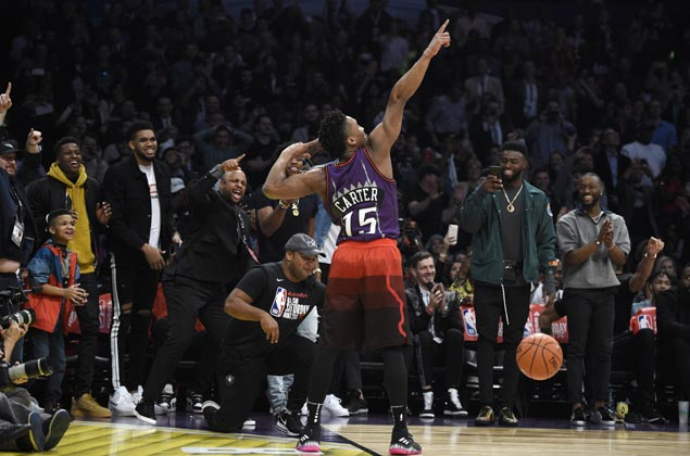 Donovan Mitchell's salute to VC enough to earn him win after Nance Jr's original double alley-oop