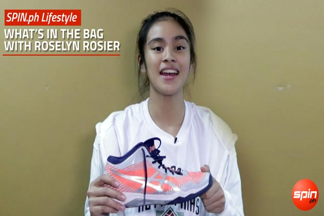 Let's find out&nbsp;<em>What's In The Bag</em>&nbsp;of UP Lady Maroons rookie Roselyn Rosier