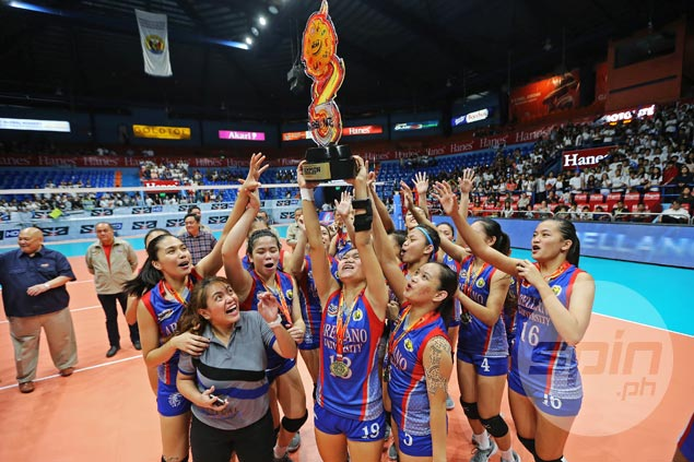 Arellano Lady Chiefs complete title repeat with finals sweep over San Beda Lady Red Spikers