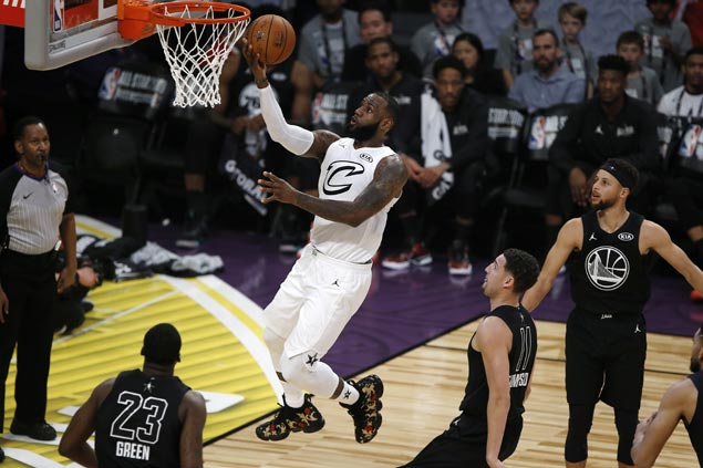 Team LeBron rallies in fourth to beat Team Stephen in NBA ...