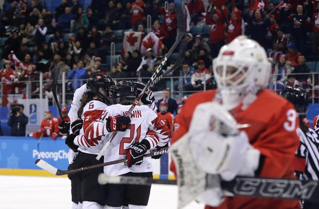 US and Canada again set up a showdown for Olympic women's hockey gold