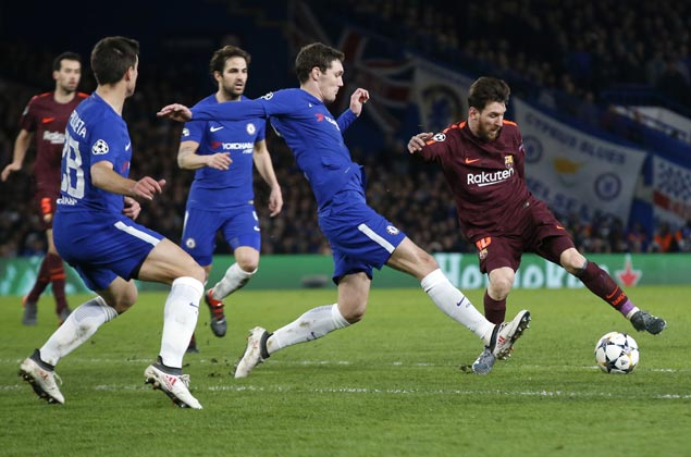 Lionel Messi finally scores against Chelsea as Barca salvages Champions league draw