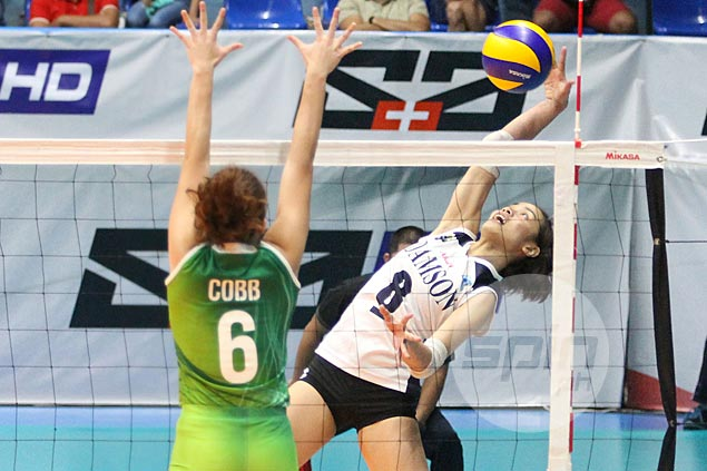 Lady Falcons pull off huge upset over treble-seeking Lady Spikers