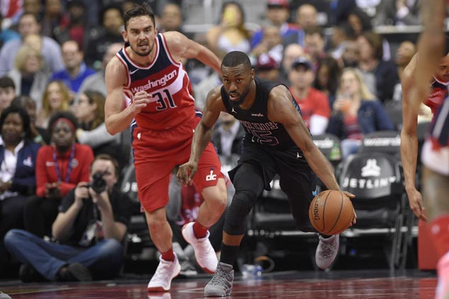 Kemba Walker takes charge as Hornets make it three wins over Wizards this season