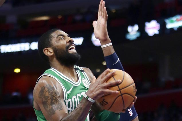 Kyrie Irving, Daniel Theis show way as Celtics rip Pistons to end three-game skid