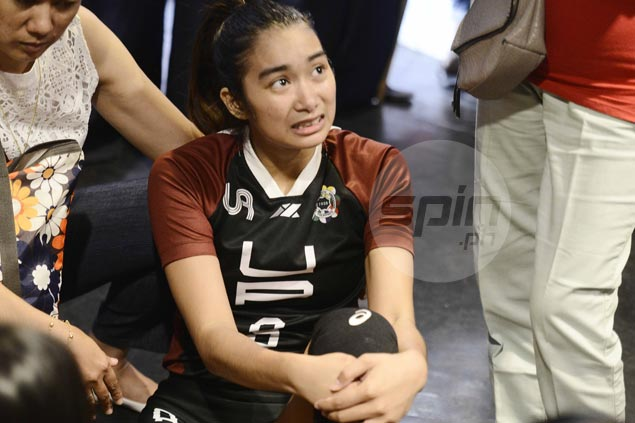 UP team manager allays major injury fears as Jesma Ramos hurts foot in Ateneo match