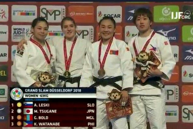Kiyomi Watanabe bags bronze in Germany leg of World Judo Tour