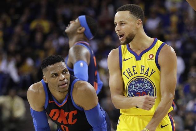 Warriors play solid defense to finally beat Thunder this season