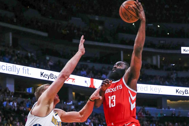 Rockets hold off late Nuggets run to make it 12 straight wins