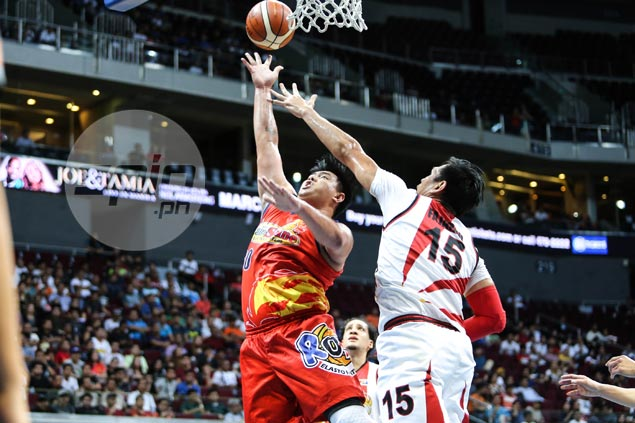 Belga, Ponferrada lead barrage as Rain or Shine rips SMB to clinch playoff berth