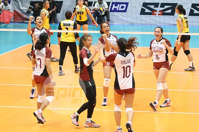 UP rides 'Atin 'to' battlecry to beat UST anew as Lady Maroons end four-game slide