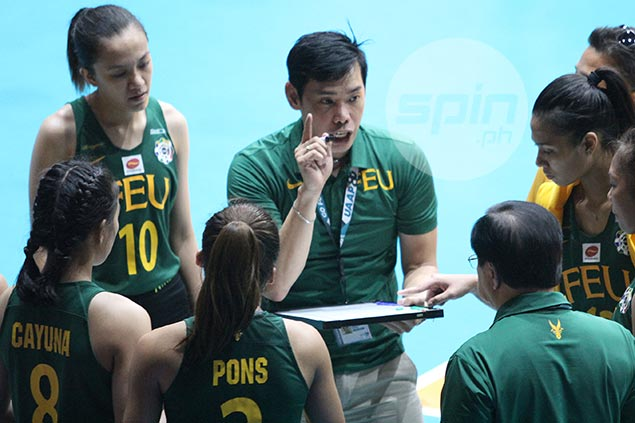 FEU coach Pascua explains reason behind choking gesture caught on cam