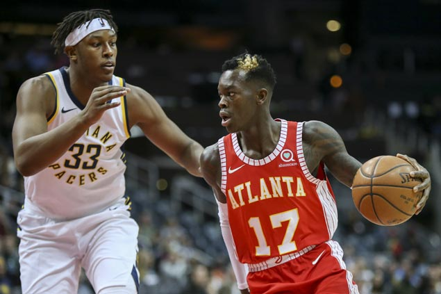 Hawks catch fire in third and hold off Pacers to halt four-game skid