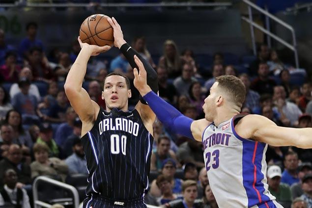 Aaron Gordon posts double-double as Magic edge Pistons in OT to halt seven-game skid