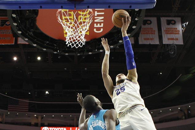 Solid on second night of back-to-back, Sixers down Hornets for 13th straight home win