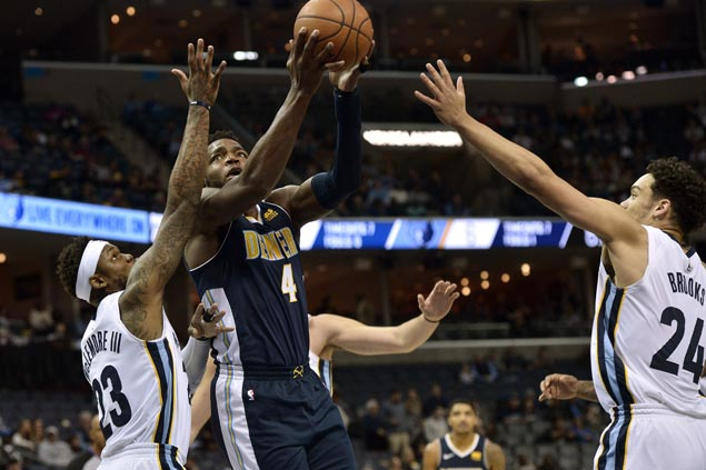 Nuggets waste double-digit lead but recover to send Grizzlies to 12th straight loss
