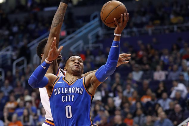 Russell Westbrook scores 43 as Thunder end run of futility against Suns
