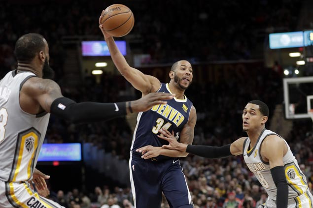 Gary Harris shows way as Nuggets hit 19 triples to send Cavs to second straight loss