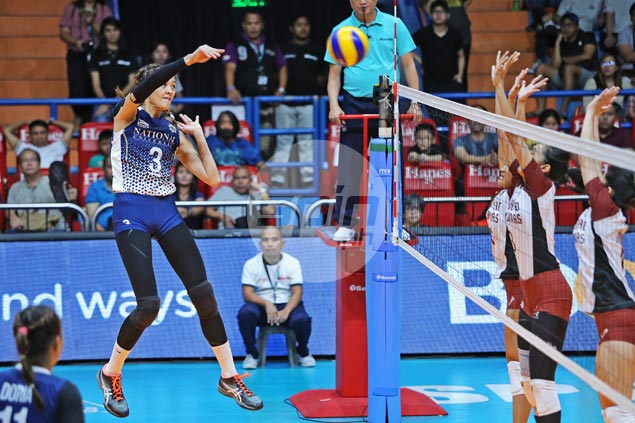 NU Lady Bulldogs bounce back with straight-sets win over UP Lady Maroons
