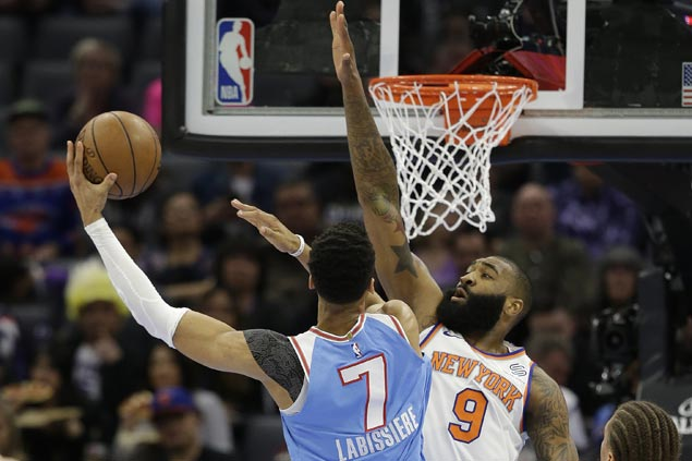 Skal Labissiere nails game-winner as Kings nip Knicks after wasting 19-point lead