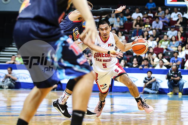 LA Tenorio says beating ROS still tough despite needing no OT in Game One: 'Pahirapan din'