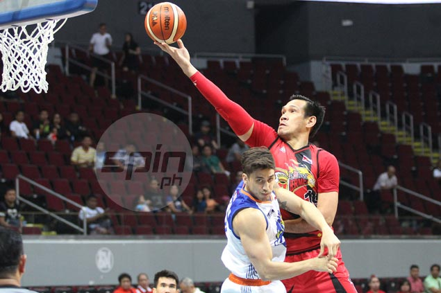 June Mar Fajardo stands tallest as San Miguel Beer boots out TNT despite late Santos ejection