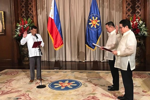 Ricky Vargas sworn in as POC chief by President Duterte