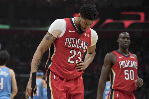 Anthony Davis shrugs off rib contusion to score 41 as streaking Pelicans beat Clippers