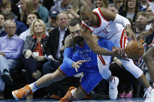 CP3 stars as Rockets make it 16 straight wins with victory over Thunder