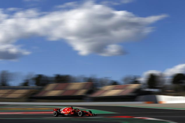 Sebastian Vettel shows Ferrari strength at testing with fastest time in Barcelona