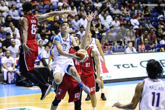 NLEX guard Kevin Alas rolls out old college 'acrobatic' shot to put an end to Alaska threat