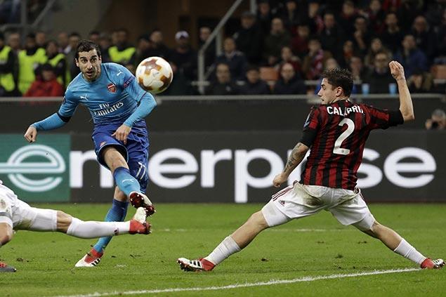 Arsenal downs AC Milan to end slump as Salzburg stuns Borussia Dortmund in Europa League