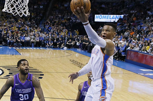 Russell Westbrook, OKC Thunder vent ire with 28-point beatdown on lowly Suns