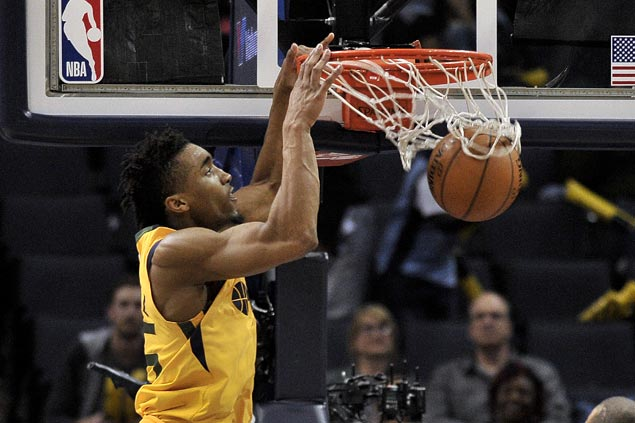 Jazz make it five consecutive wins, deal Grizzlies 16th straight loss