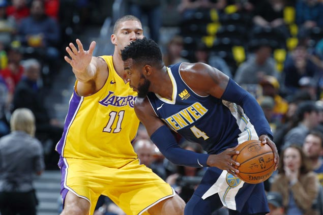 Nuggets end three-game home skid, snap Lakers' road win streak at four
