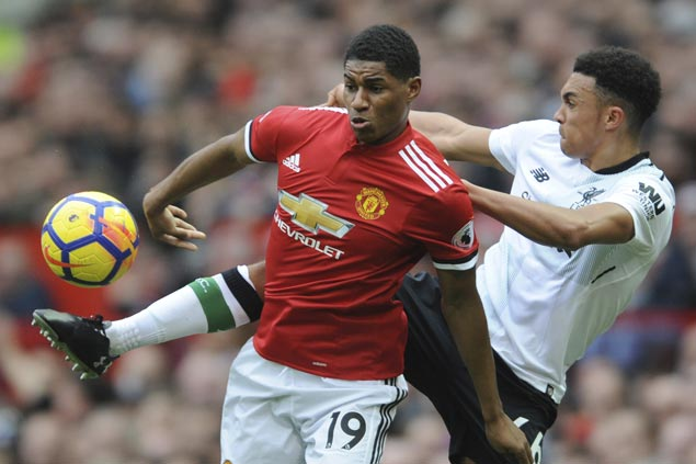 Marcus Rashford back in spotlight with brace in first start of year as United downs Liverpool