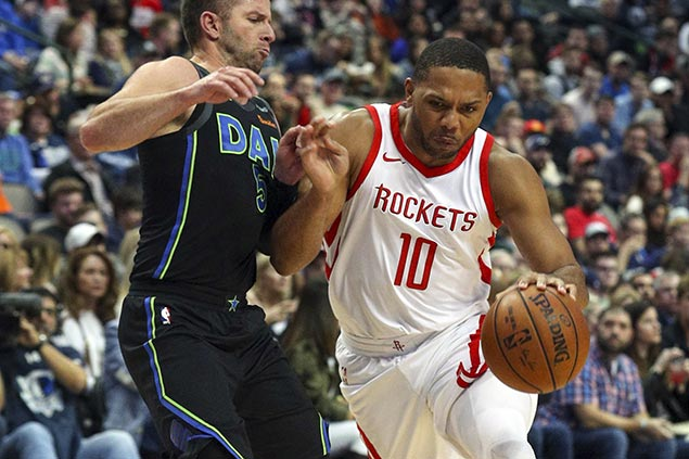 Paul, Gordon take charge as Harden sits with sore knee in Rockets rout vs Mavs