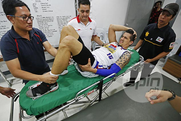 Oh, no! Marc Pingris out six to eight months after tests confirm ACL injury on knee
