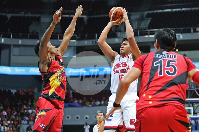 Caperal plays fireman's role as Ginebra holds off SMB to trim series deficit to 1-2