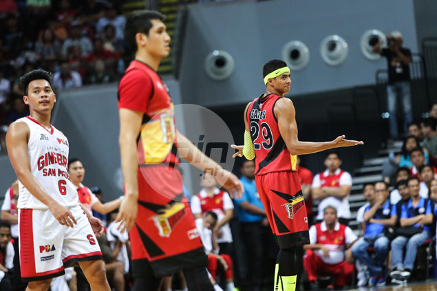 Apologetic Arwind Santos fined P25K for flagrant foul, rant against Game 3 officiating