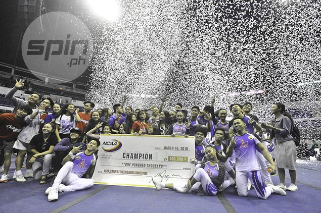 Arellano Chiefs Squad put on near flawless show to bag back-to-back NCAA Cheerleading titles