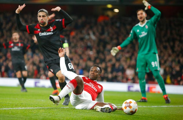 Welbeck hits brace as Arsenal beats AC Milan to reach Europa League quarterfinals