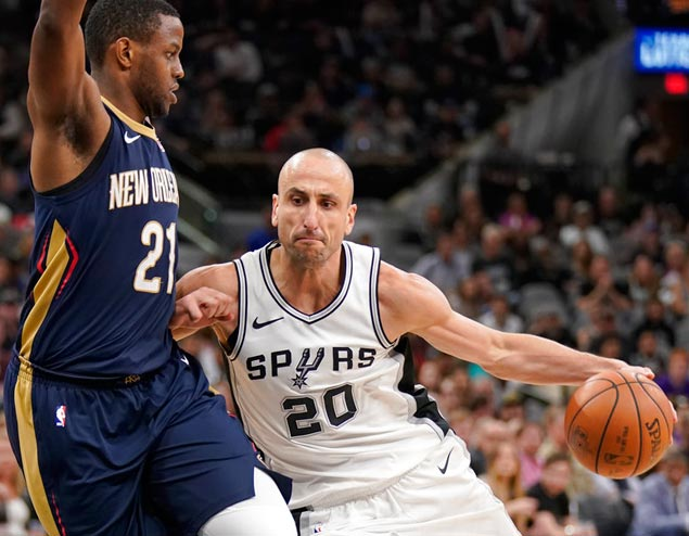 Vintage Ginobili sparks fightback against Pelicans as Spurs reclaim No. 8 spot in West