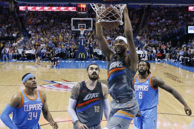 Corey Brewer grabs share of spotlight as Thunder complete season sweep of Clippers